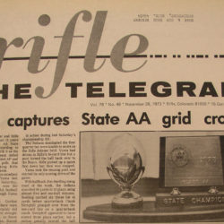 1974 Rifle Telegram Front Page